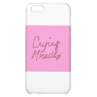 crying miracles cursive iPhone 5C case