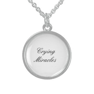 Crying Miracles Sterling Silver Necklace