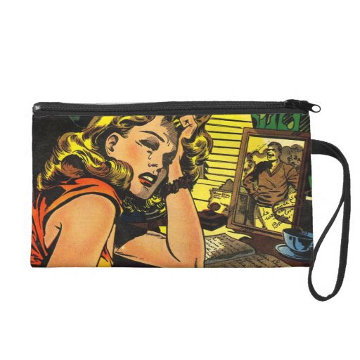 Crying Over My Diary and Romantic Kiss Wristlet