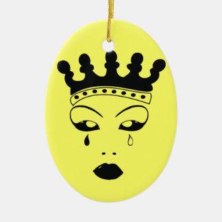 Crying Queen Ceramic Ornament