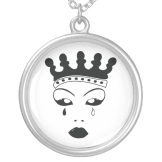 Crying Queen Silver Plated Necklace