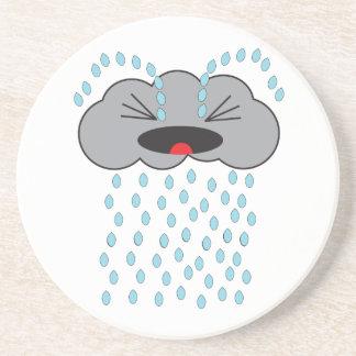 Crying Rain Cloud Beverage Coasters