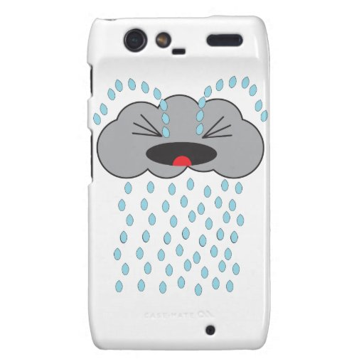 Crying Rain Cloud Droid RAZR Covers