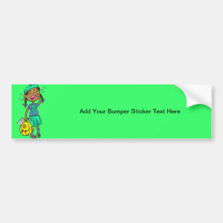 Crying School Girl Bumper Sticker