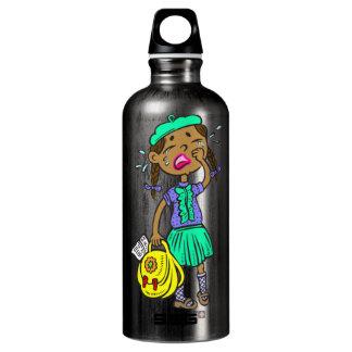 Crying School Girl Water Bottle