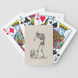 Crying Skeleton Bicycle Playing Cards