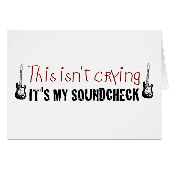 Crying sound check card