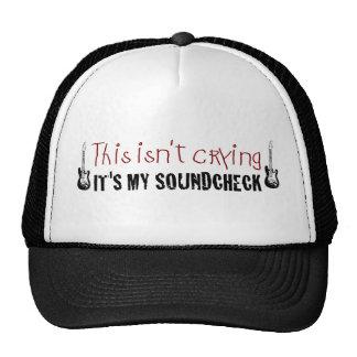Crying sound check mesh hats