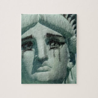 Crying Statue of Liberty Jigsaw Puzzle