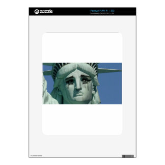 Crying Statue of Liberty Skin For iPad
