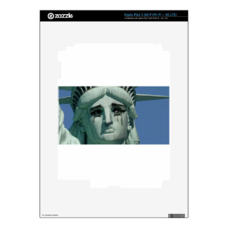 Crying Statue of Liberty Skin For iPad 3