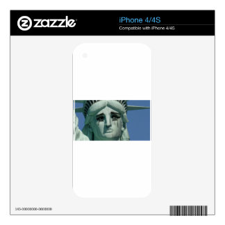 Crying Statue of Liberty Skins For iPhone 4