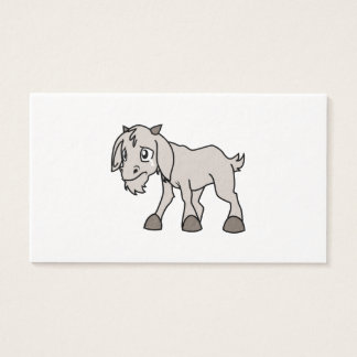 Crying Weeping Grey Young Goat Kid Animal Rights D Business Card