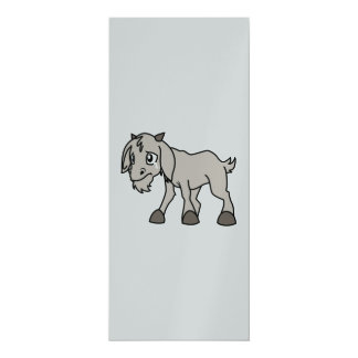 Crying Weeping Grey Young Goat Kid Animal Rights D Card