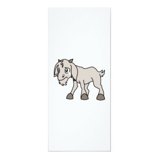 Crying Weeping Grey Young Goat Kid Animal Rights D Personalized Invites