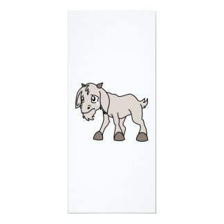 Crying Weeping Grey Young Goat Kid Animal Rights D Invitations