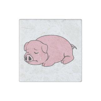 Crying Weeping Pink Pig Piglet Card Mug Pillow Pin Stone Magnet