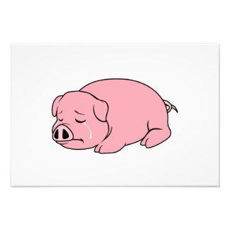 Crying Weeping Pink Pig Piglet Card Mug Pillow Pin Photograph