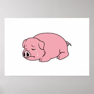 Crying Weeping Pink Pig Piglet Card Mug Pillow Pin Posters
