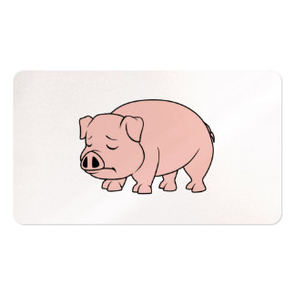 Crying Weeping Pink Piglet National Pig Day Business Card