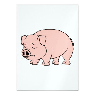Crying Weeping Pink Piglet National Pig Day Card