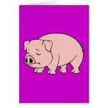 Crying Weeping Pink Piglet National Pig Day Greeting Cards