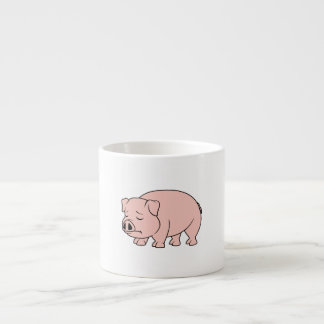 Crying Weeping Pink Piglet National Pig Day Espresso Cup