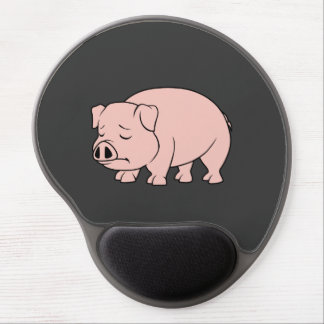 Crying Weeping Pink Piglet National Pig Day Gel Mouse Pad