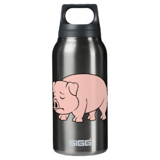 Crying Weeping Pink Piglet National Pig Day Insulated Water Bottle