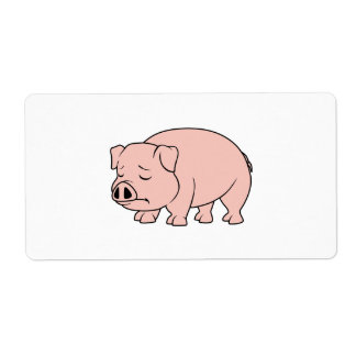 Crying Weeping Pink Piglet National Pig Day Label