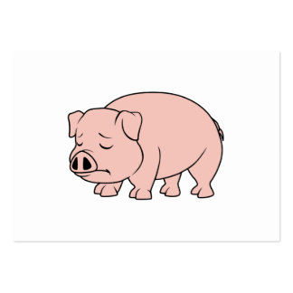 Crying Weeping Pink Piglet National Pig Day Large Business Card