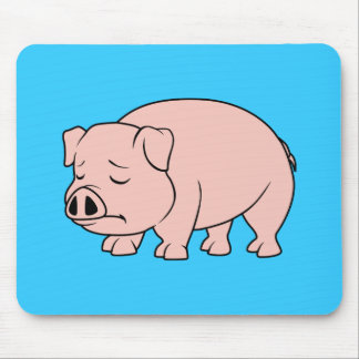 Crying Weeping Pink Piglet National Pig Day Mouse Pad