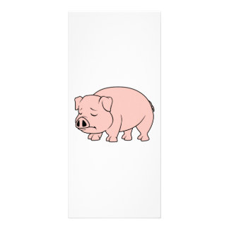 Crying Weeping Pink Piglet National Pig Day Rack Card Template