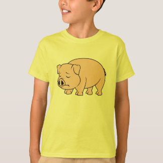 Crying Weeping Pink Piglet National Pig Day T-Shirt