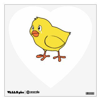 Crying Yellow Chick National Chicken Day Card Mug Wall Decal
