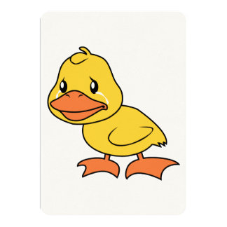 Crying Yellow Duckling Lame Duck Day Invitation