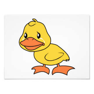 Crying Yellow Duckling Lame Duck Day Invitation Photo