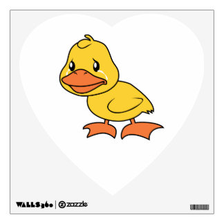 Crying Yellow Duckling Lame Duck Day Room Sticker