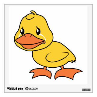 Crying Yellow Duckling Lame Duck Day Wall Decal