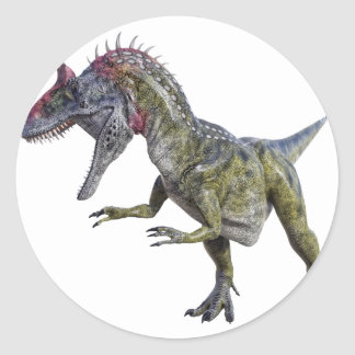 Cryolophosaurus Looking Down to the Right Classic Round Sticker
