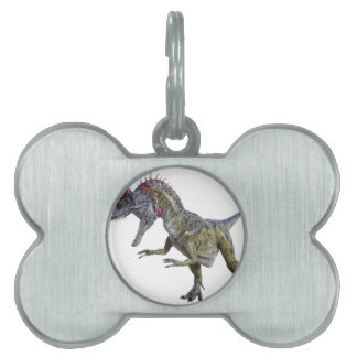 Cryolophosaurus Looking Down to the Right Pet Name Tag