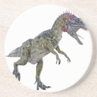 Cryolophosaurus que corre a la izquierda posavasos manualidades