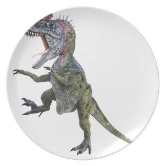 Cryolophosaurus Running and Leaping Dinner Plate