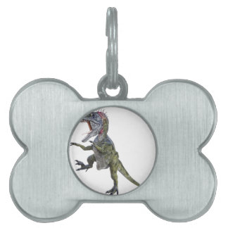 Cryolophosaurus Running and Leaping Pet Tag