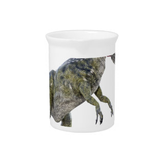 Cryolophosaurus Running to the Left Beverage Pitchers