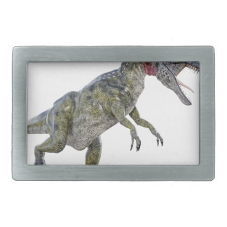 Cryolophosaurus Running to the Left Rectangular Belt Buckle