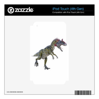 Cryolophosaurus Running to the Left Skins For iPod Touch 4G