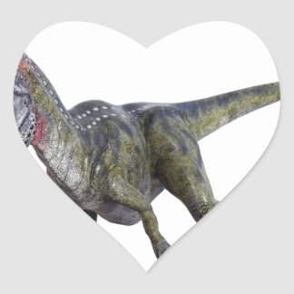 Cryolophosaurus squatting and  Roaring Heart Sticker