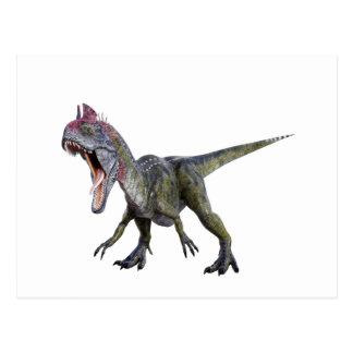 Cryolophosaurus squatting and  Roaring Postcard
