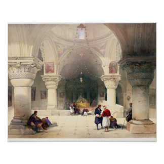 Crypt of the Holy Sepulchre, Jerusalem, plate 20 f Poster